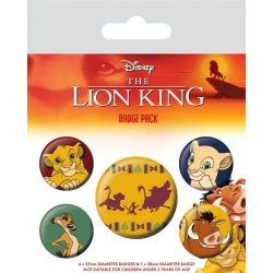 The Lion King Pin Badges 5-Pack Hakuna Matata