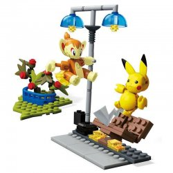 Pokémon Mega Construx Construction Set Pikachu vs. Chimchar