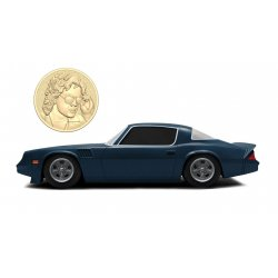 Stranger Things Diecast Model 1/24 Billy's 1979 Chevy Camaro Z28 with Collectible Coin