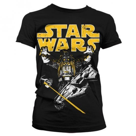 Star Wars Vader Intimidation Girly T-Shirt