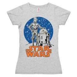 Star Wars - Droids - R2-D2 & C-3PO Girly Tee