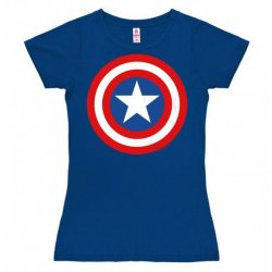 Captain America - Marvel - Logo Girly Tee