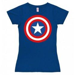 Captain America - Marvel - Logo Girly Tee