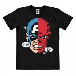 Captain America & Red Skull - Faces - Marvel Comics T-Shirt