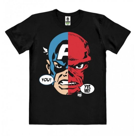 Captain America & Red Skull - Faces - Marvel Comics T-Shirt