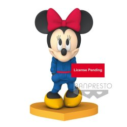 Disney Best Dressed Q Posket Mini Figure Minnie Mouse Ver. B 10 cm