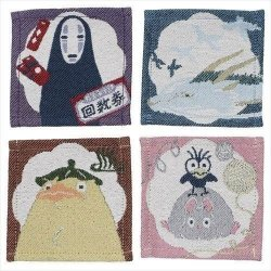 Spirited Away Coaster 4-Pack Characters