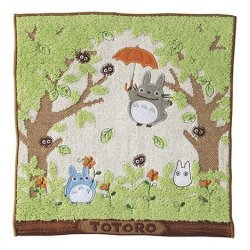 My Neighbor Totoro Mini Towel Shade of the Tree 25 x 25 cm