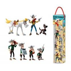 Lucky Luke Mini Figure 7-Pack Characters 4 - 10 cm