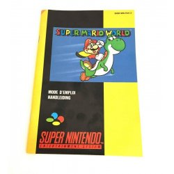 Super Nintendo - Super Mario World Manual (Dutch French)
