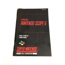 Super Nintendo - Super NES Nintendo Scope 6 Manual (Dutch French)