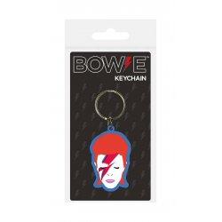 David Bowie Rubber Keychain Aladdin Sane 6 cm