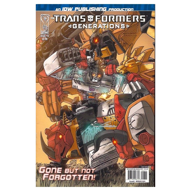 Cómics - Transformers Generations 8A (2006 IDW) -