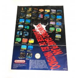 NES - Brochure Catalog Foldout The Nintendo NES Game Plan Flyer / Poster