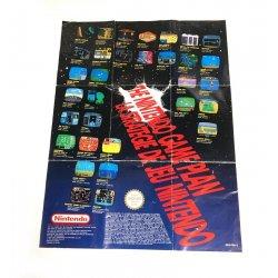 NES - Brochure Catalog Foldout The Nintendo NES Game Plan Flyer / Poster