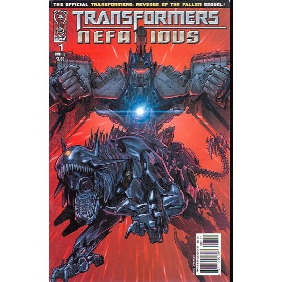 Transformers Nefarious (2010 IDW) 1B