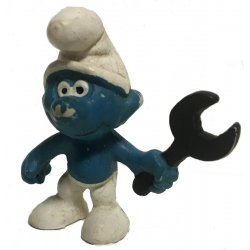 Mini-figures - Smurfs – Mechanic Smurf -