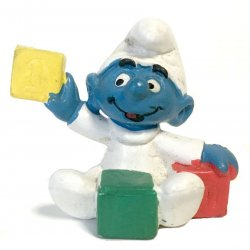 Mini-figures - Smurfs – Baby Smurf with Blocks -