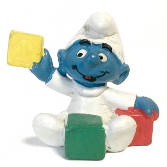 Smurfs – Baby Smurf with Blocks