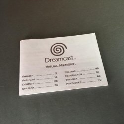 SEGA Dreamcast Visual Memory - Instructions Manual
