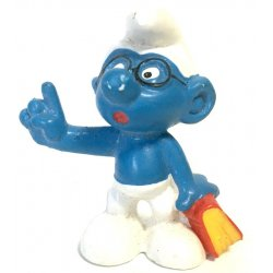 Mini-figures - Smurfs – Bookworm Brainy Smurf -