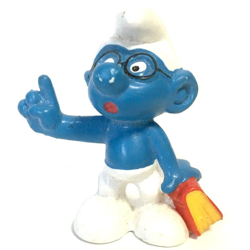 Mini Figures - Smurfs – Bookworm Brainy Smurf -