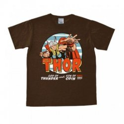 Marvel - The Mighty Thor - T-Shirt Easy Fit - Dark Brown