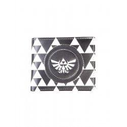 The Legend of Zelda Wallet Triforce Black & White