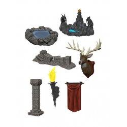 WizKids Deep Cuts Unpainted Miniatures Pools & Pillars
