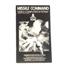 Manuals & Inserts - Atari 2600 – Missile Command Instructions (Dutch) -