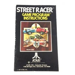 Manuals & Inserts - Atari 2600 – Street Race Game Program Instructions -