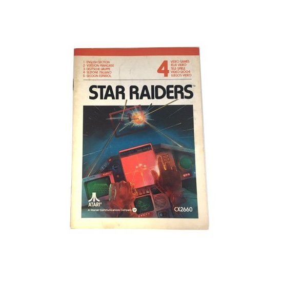 Atari 2600 – Star Raiders Instructions (EU)
