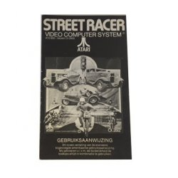Atari 2600 – Street Race Game Program Instructions (Dutch)