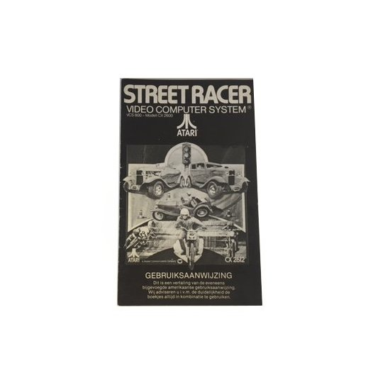 Atari 2600 – Street Race Game Program Instructions (Dutch)
