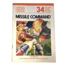 Manuals & Inserts - Atari 2600 – Missile Command Instructions (EU) -