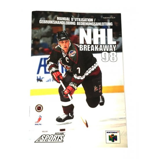 N64 – NHL Breakaway 98 Instructions (EU)