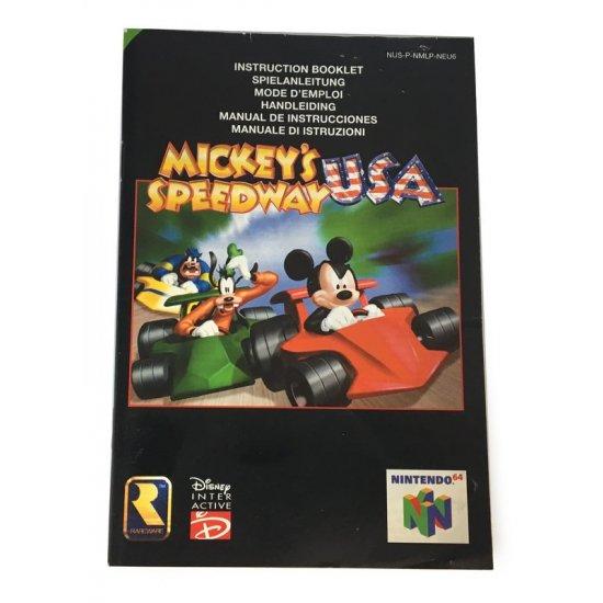 N64 – Mickey's Speedway USA Instructions (EU)