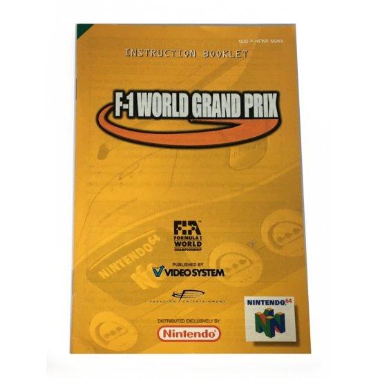 N64 – F-1 World Grand Prix Instructions (EU)