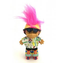 My Lucky Roller Blades Troll Doll