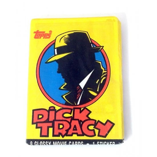 Dick Tracy Glossy Movie Cards & Sticker
