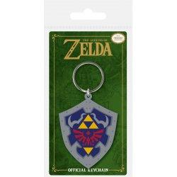 Legend of Zelda Rubber Keychain Hylian Shield 6 cm