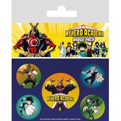 My Hero Academia Pin Badges 5-Pack Characters