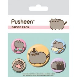 Pusheen Pin Badges 5-Pack Fancy
