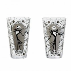 Nightmare before Christmas Pint Glass 2-Pack Jack and Bones