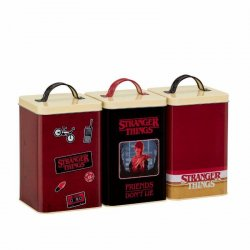 Stranger Things Kitchen Storage Set Retro Logo