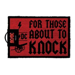 AC/DC Doormat For Those About To Knock 40 x 57 cm
