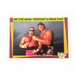 "Merlin: WWF – Jim ""The Anvil"" Neidhart & Owen Hart 133 (German Card)"