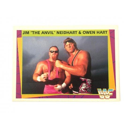 "Merlin: WWF – Jim ""The Anvil"" Neidhart & Owen Hart 133 (German Card)"
