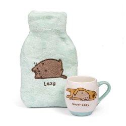 Pusheen Mug and Hot Water Bottle Set Super Lazy