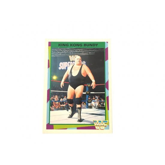 Merlin: WWF – King Kong Bundy 104 (German Card)